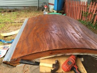 Rolled the rear hatch and stained it.