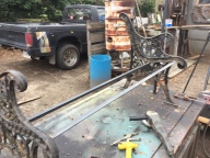 Angle iron welded in place.