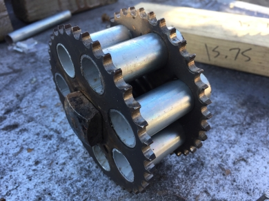 This is where the design starts...gears I've had for a long time, but doing nothing.